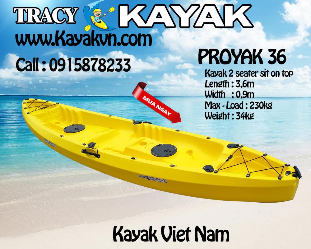 thuyen kayak 2 cho